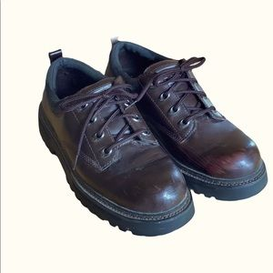 Skechers Brown Y2K Lugg Sole Lace Up Oxford Shoes
